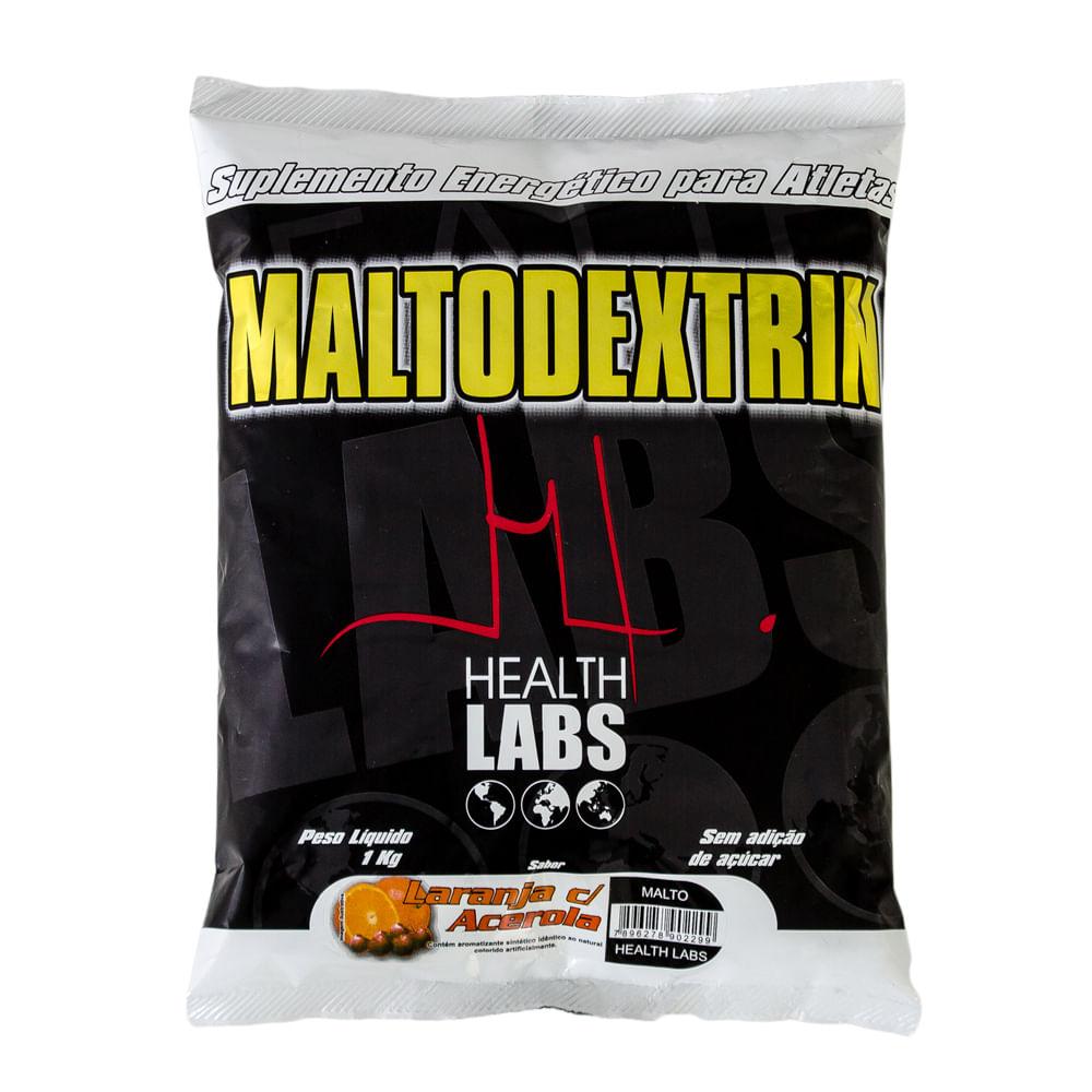 Maltodextrin Health Labs Pó Sabor Laranja com Acerola com 1kg