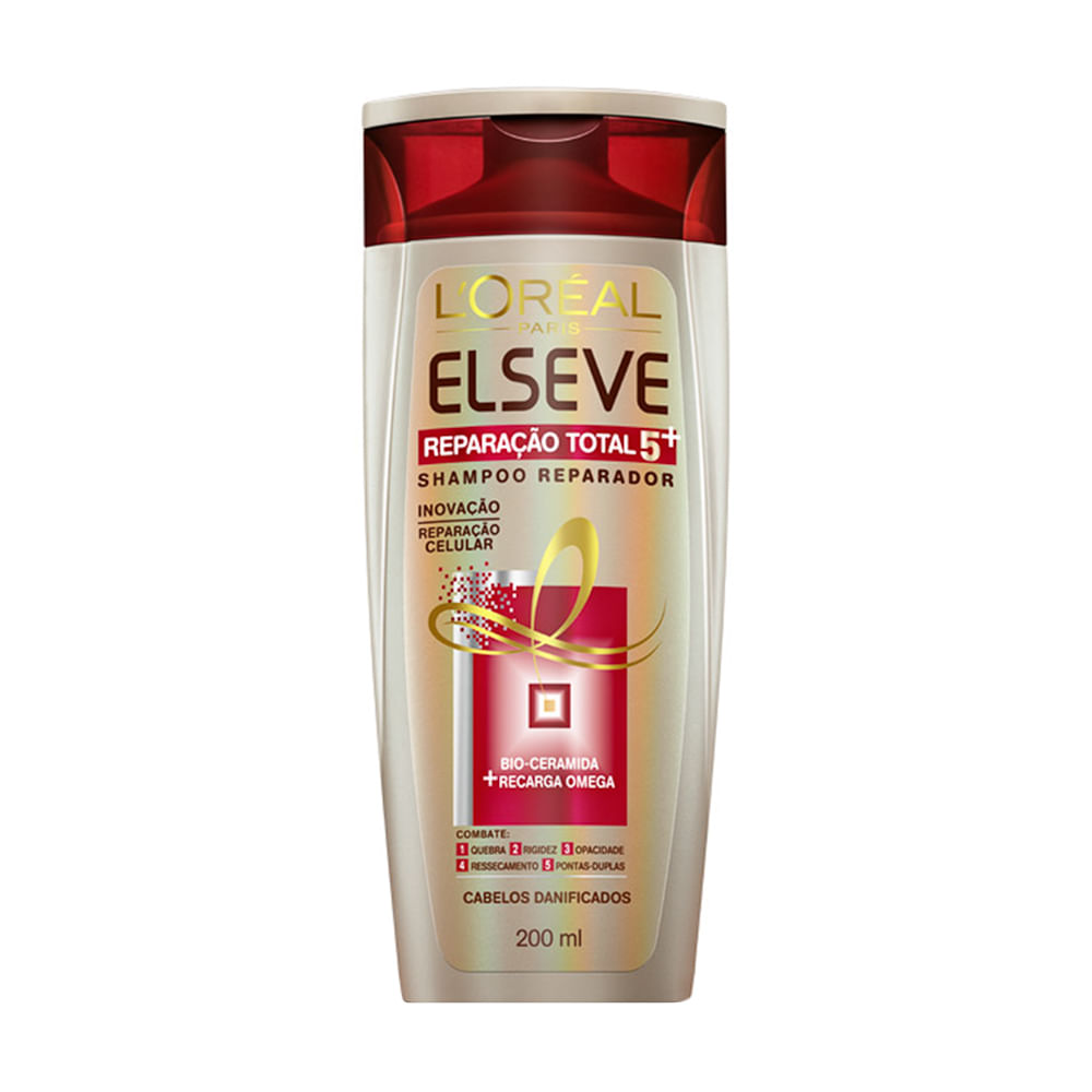 Shampoo Elseve Reparação Total 5 com 200ml