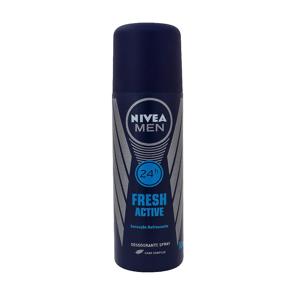 Desodorante Nivea Men Fresh Active Spray 24h com 90ml