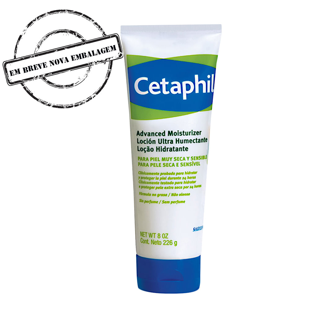 Cetaphil Advanced Moisturizer Galderma Loção Hidratante com 226g para Pele Seca e Sensível