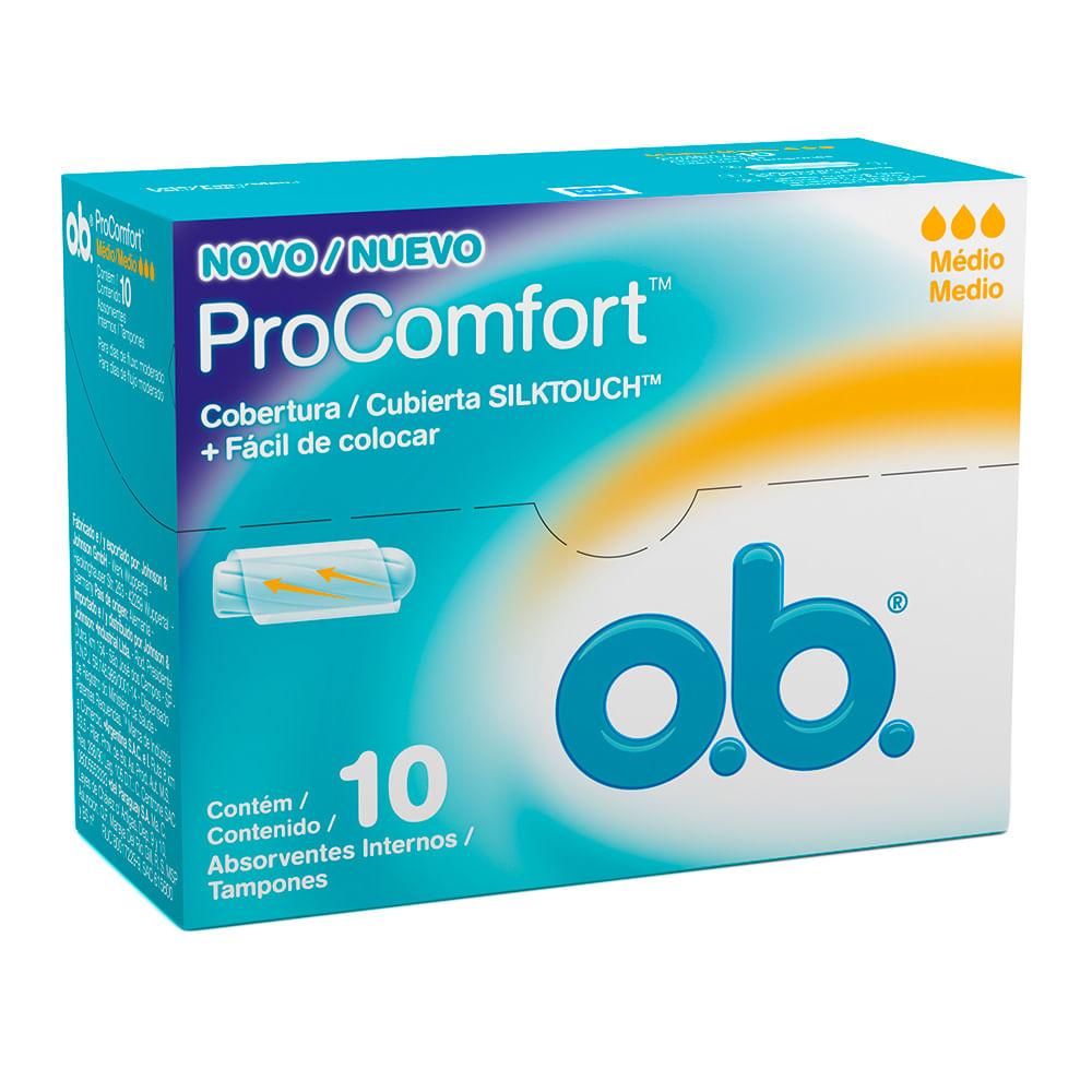 Absorvente Interno OB Pro Comfort Médio com 10 Unidades