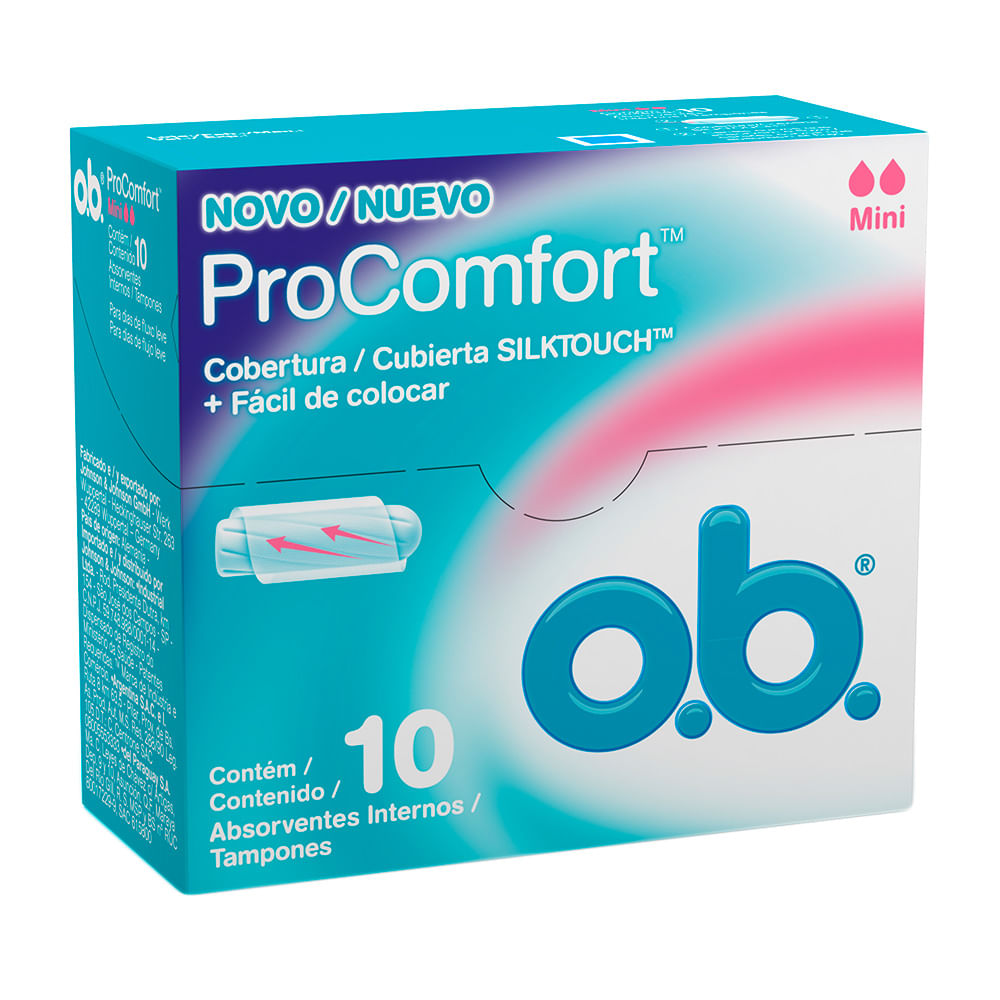 Absorvente Interno OB Pro Comfort Mini com 10 Unidades