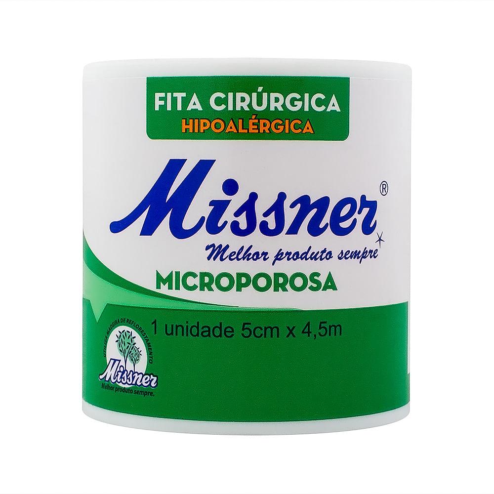 Esparadrapo Missner Microporoso Extra Flexível 5cm x 4,5m com 1 Unidade
