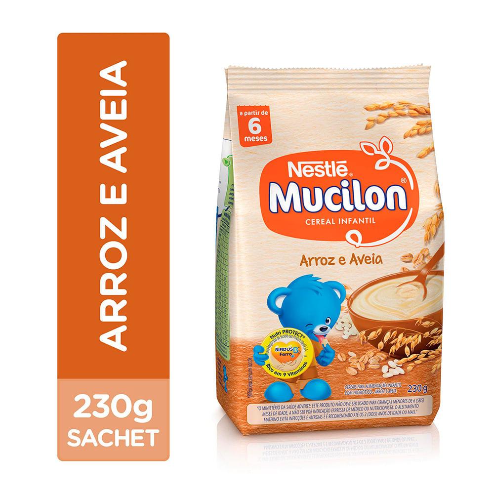 Mucilon Arroz e Aveia Cereal Infantil Sachê 230g
