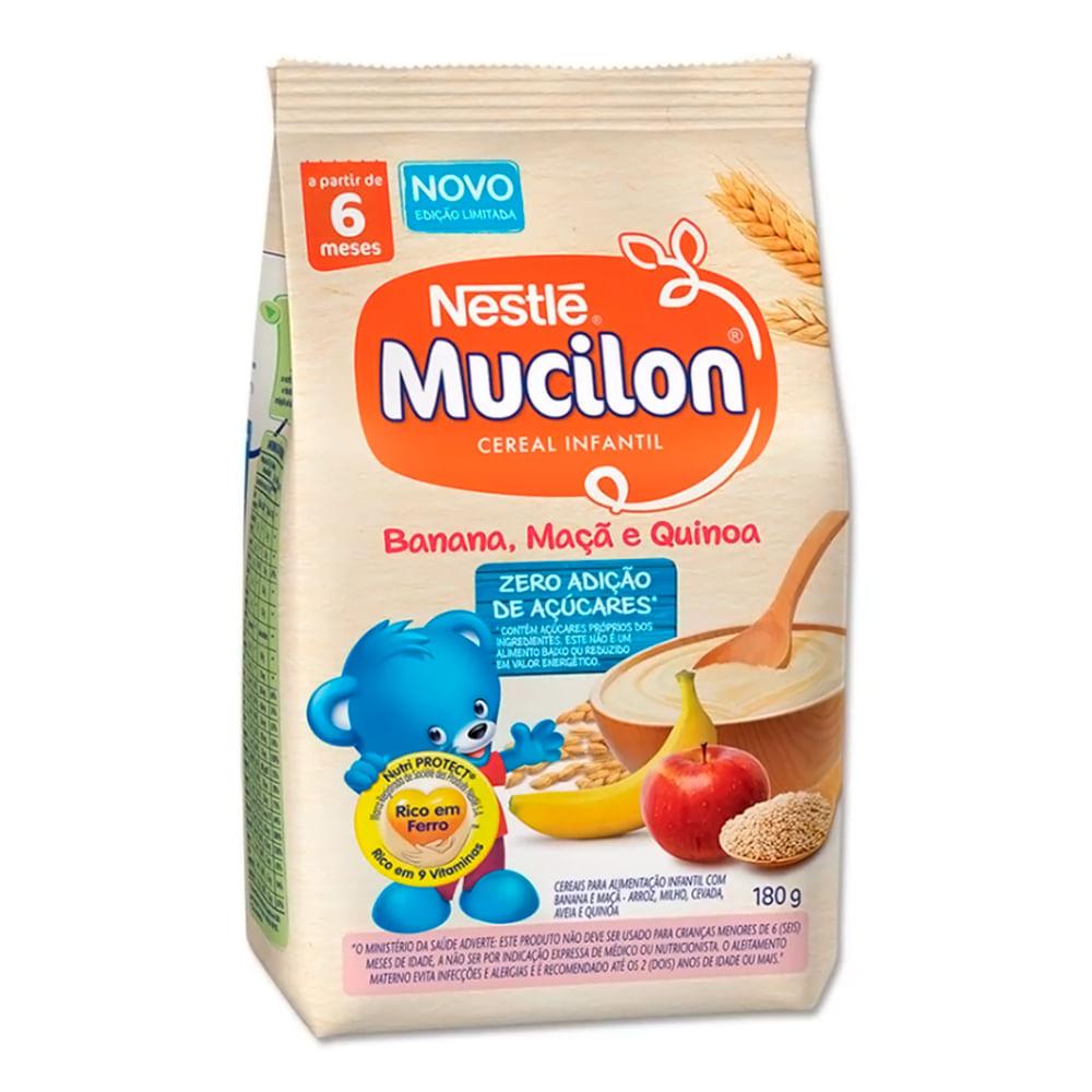 Mucilon Banana, Maçã e Quinoa Cereal Infantil Sachê 180g