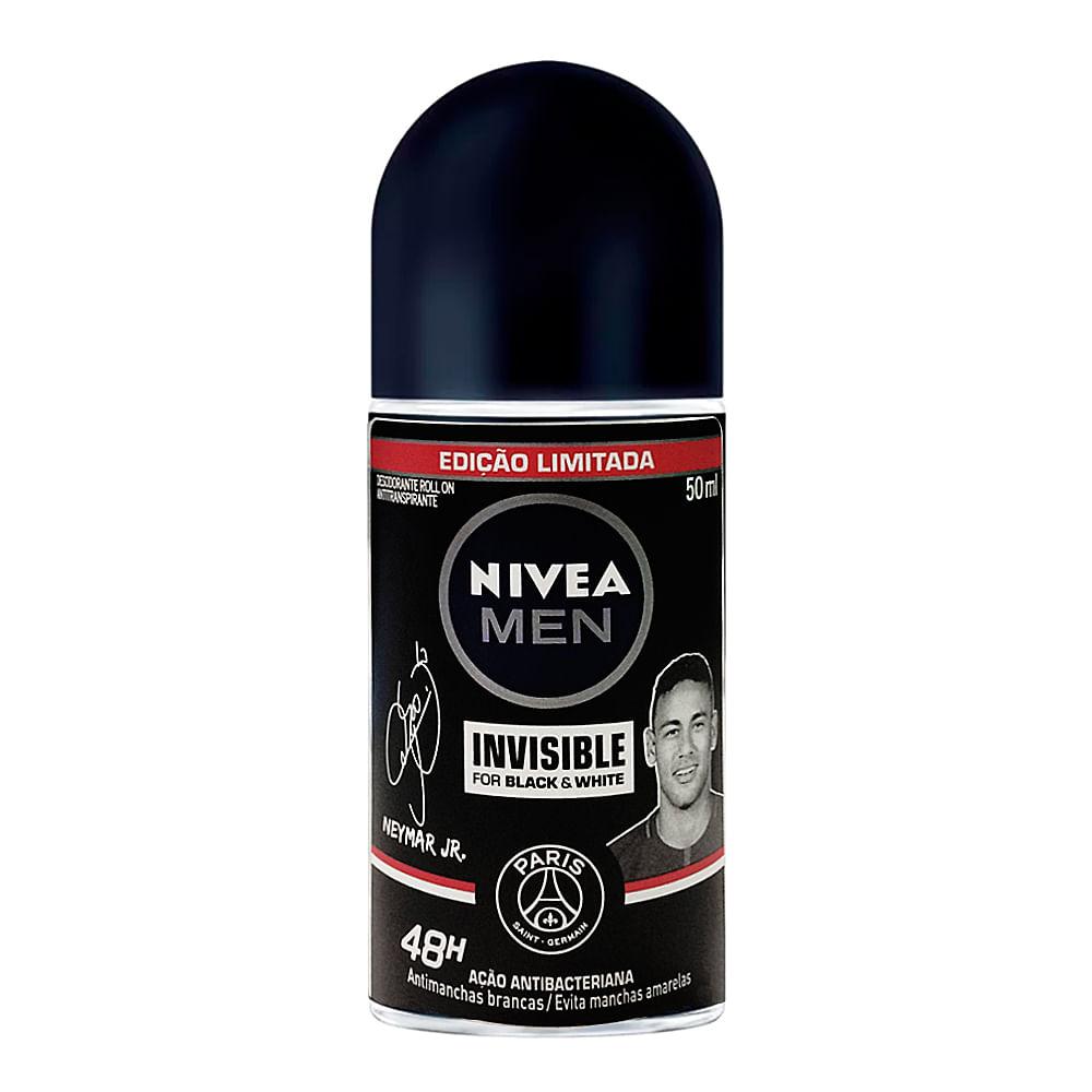 Desodorante Nivea Men Invisible For Black & White Roll-on Antitranspirante 48h com 50ml