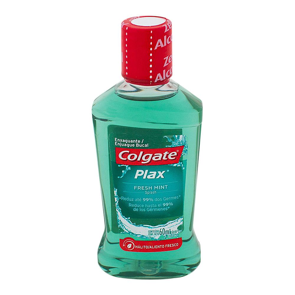 Solução Bucal Colgate Plax Fresh Mint com Flúor sem Álcool com 60ml