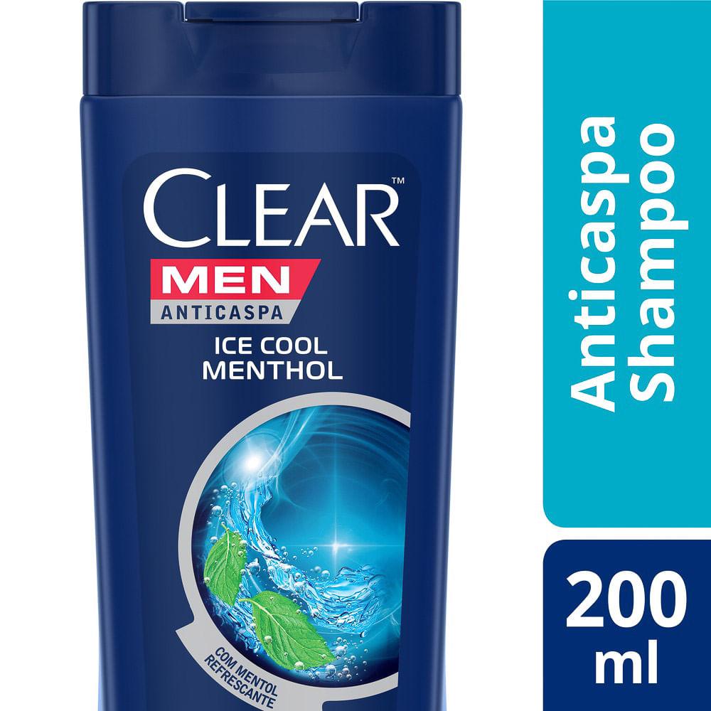 Shampoo Clear Men Ice Cool Menthol 200ml