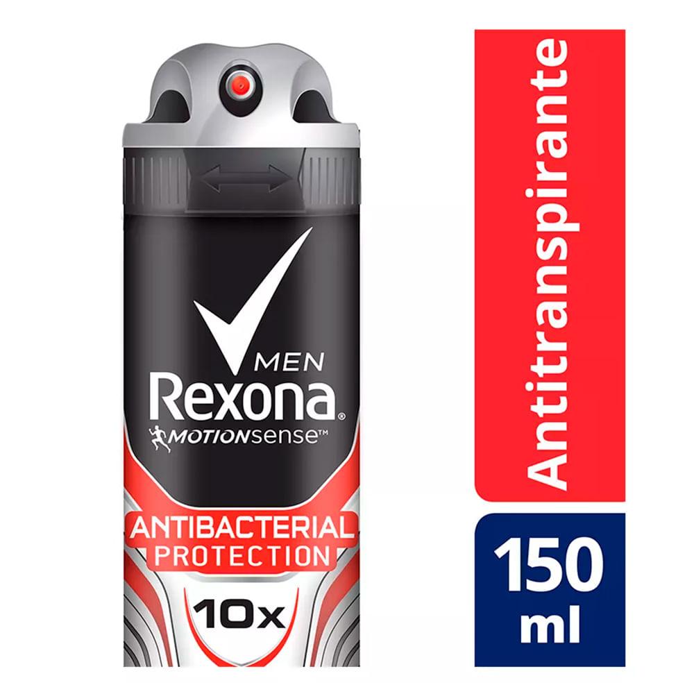 Desodorante Rexona Antibacterial Protection Men Aerosol Antitranspirante 48h 150ml