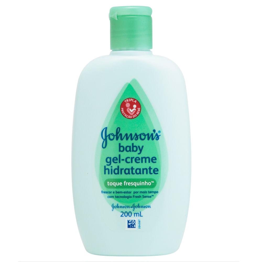 Gel-Creme Hidratante Infantil Johnson's Baby Toque Fresquinho com 200ml
