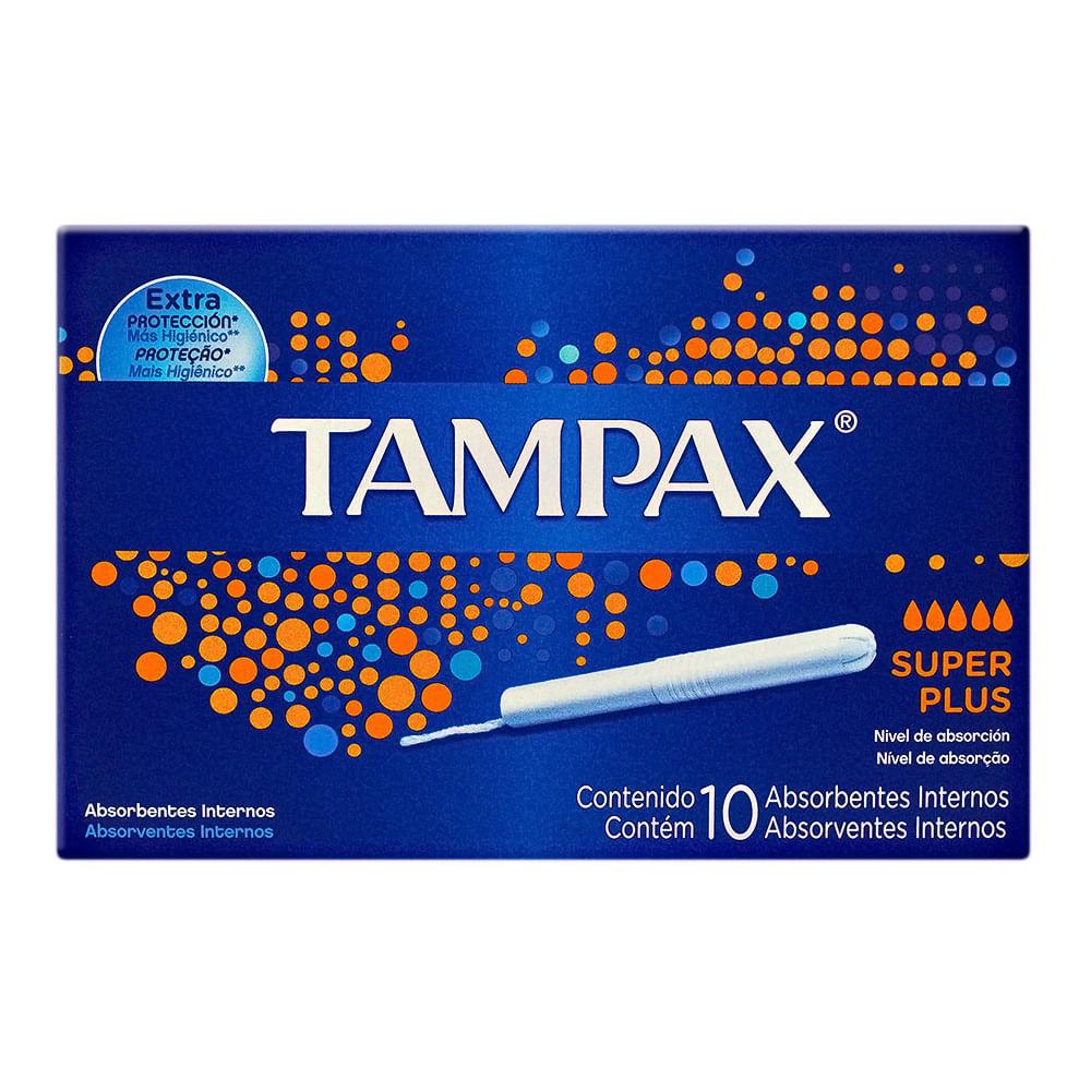 Absorvente Interno Tampax Super Plus com Aplicador com 10 Unidades