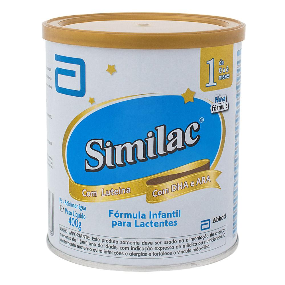 Leite Similac 1 em Pó Fórmula Infantil para Lactentes de 0 a 6 Meses com 400g