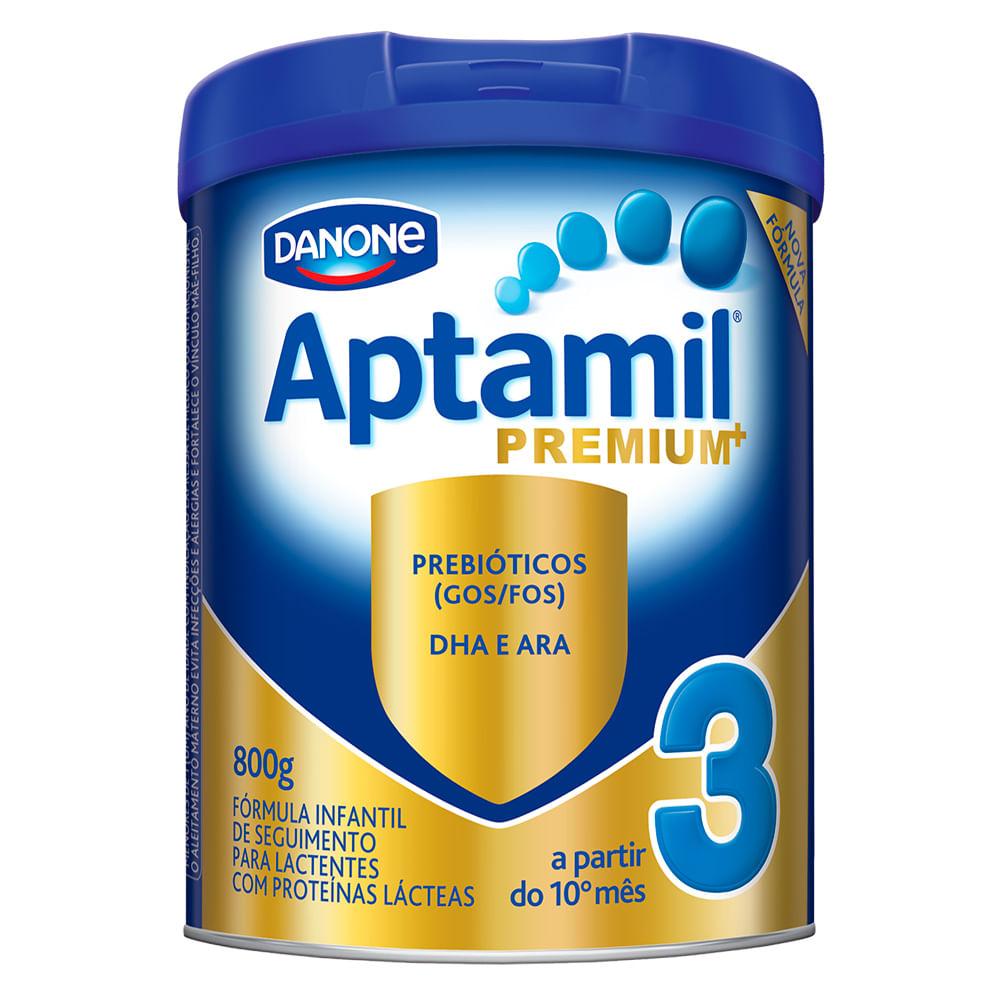 Leite Aptamil Premium+ 3 em Pó Fórmula Infantil para Lactentes a Partir de 10 Meses Lata com 800g