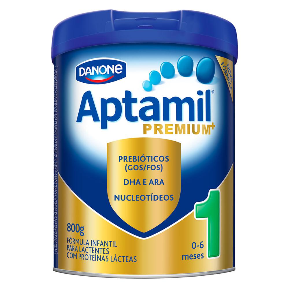 Leite Aptamil Premium+ 1 em Pó Fórmula Infantil para Lactentes de 0 a 6 Meses Lata com 800g