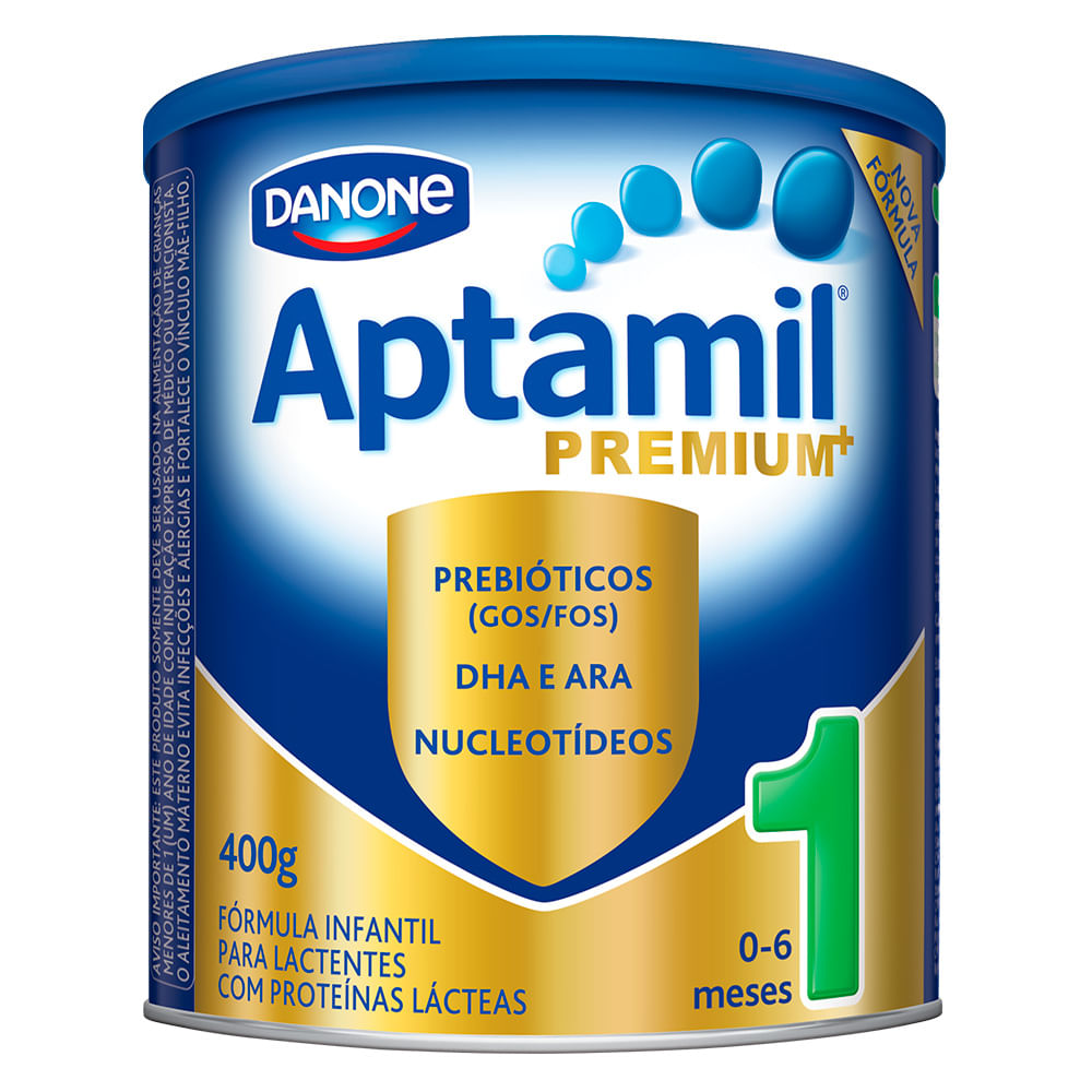 Leite Aptamil Premium+ 1 em Pó Fórmula Infantil para Lactentes de 0 a 6 Meses Lata com 400g