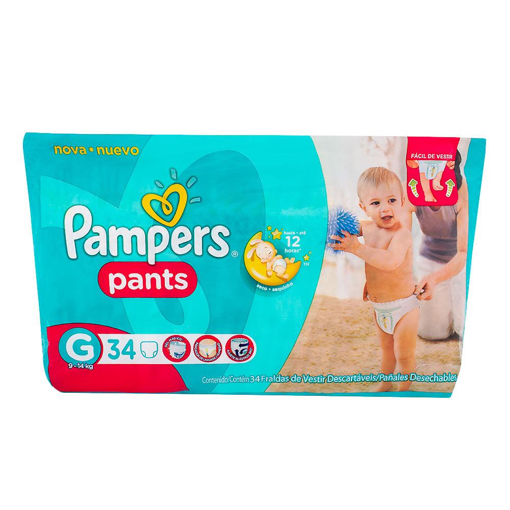 Fralda Pampers Pants Tamanho G Pacote com 34 Fraldas Descartáveis