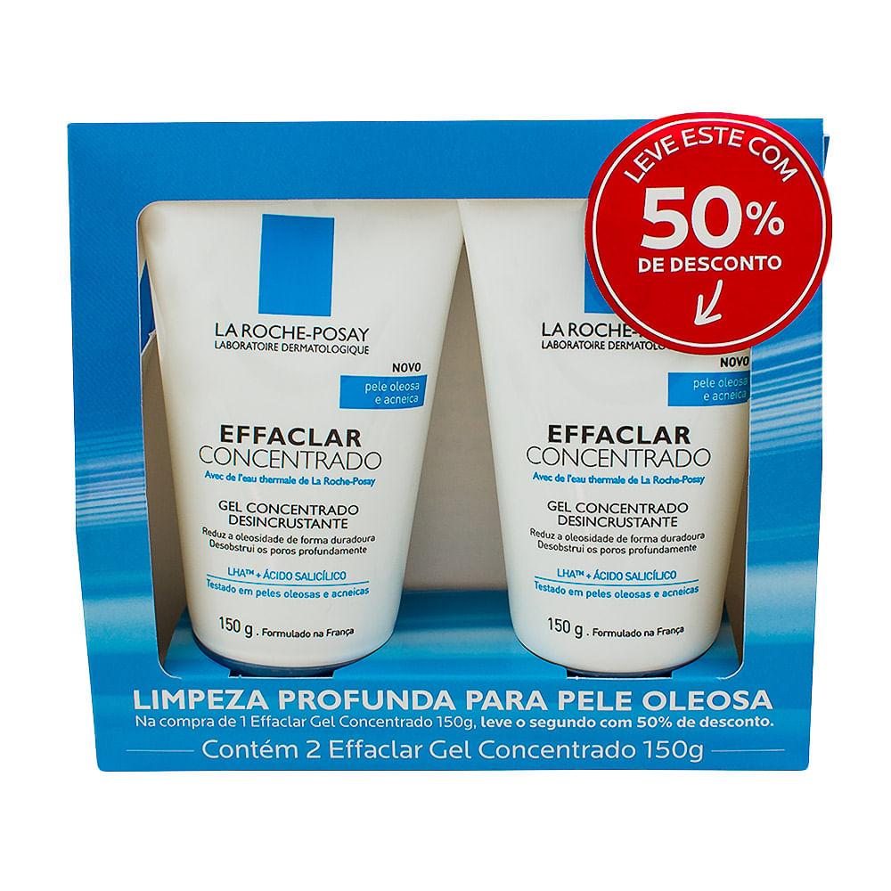 Effaclar La Roche Posay Gel Concentrado de Limpeza Facial com 150g + 50% Desconto na 2ª Unidade