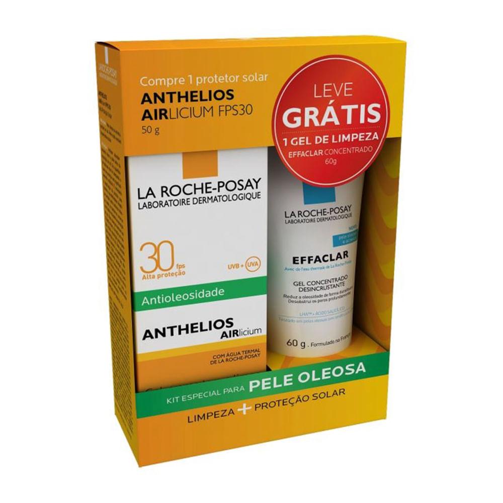 Protetor Solar Anthelios AIRlicium FPS 30 Gel Creme com 50g + Grátis Effaclar Gel Concentrado de Limpeza Facial com 60g