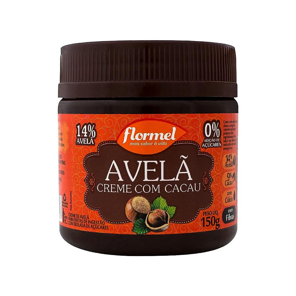 f1c791eea Creme de Avelã com Cacau Flormel Zero Adição de Açucares em Pasta com 150g