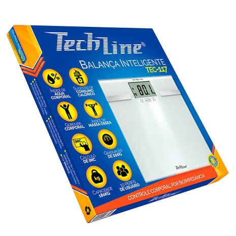 Balança Techline Digital Vidro Temperado 117