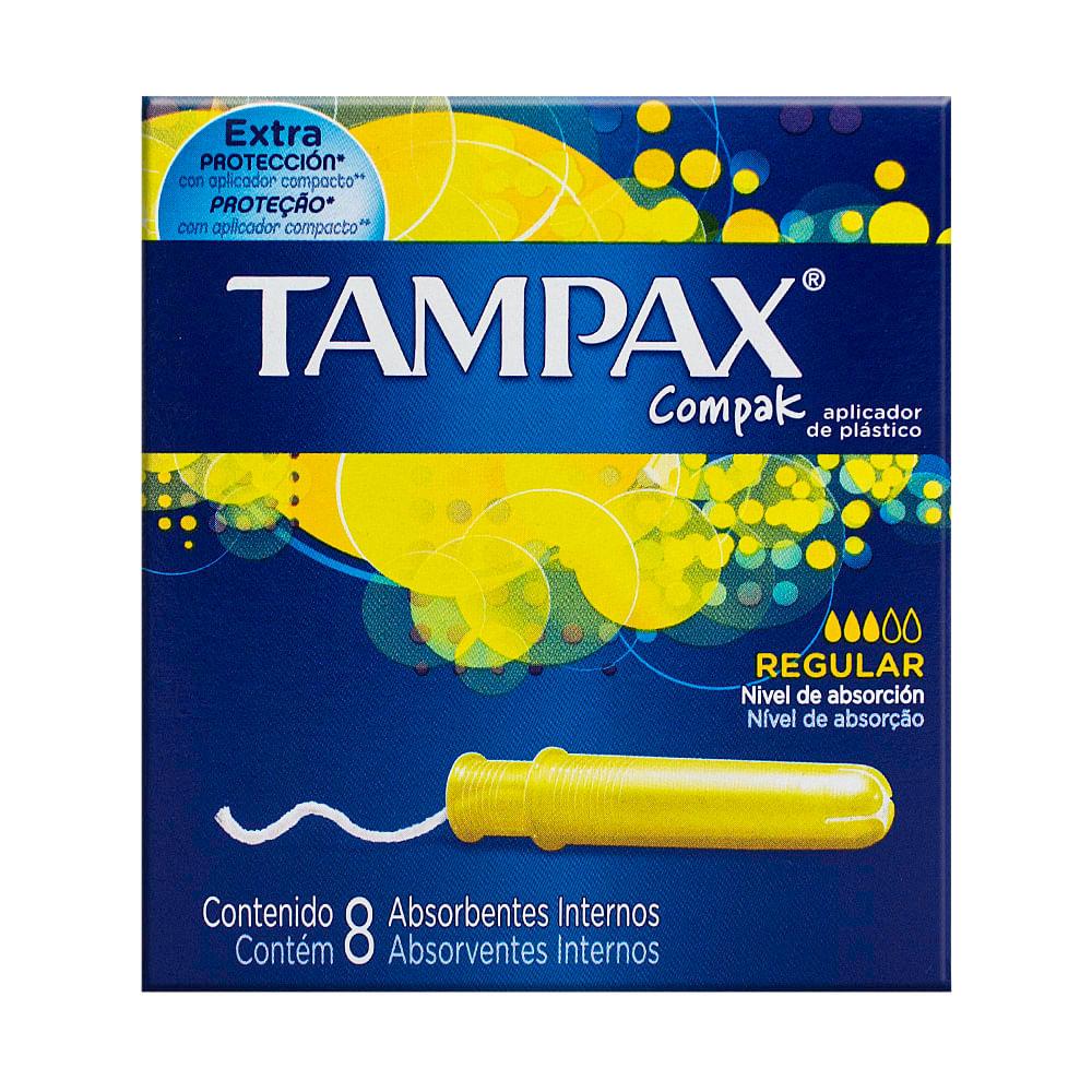 Absorvente Interno Tampax Compak Regular com Aplicador com 8 Unidades