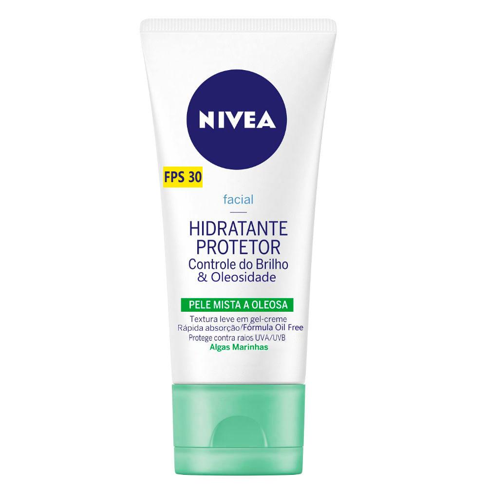 Nivea Facial Hidratante Protetor Controle do Brilho FPS 30 Pele Mista a  Oleosa com 50g e435e671377