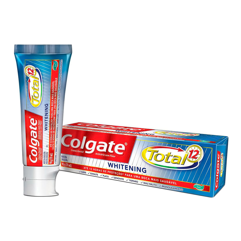 Creme Dental Colgate Total 12 Whitening Higiene Pessoal Drogaria