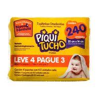519b9b8b5 Toalha Umedecida Piquitucho Premium Leve 4 Pague 3 com 4 Pacotes de 60  Unidades cada