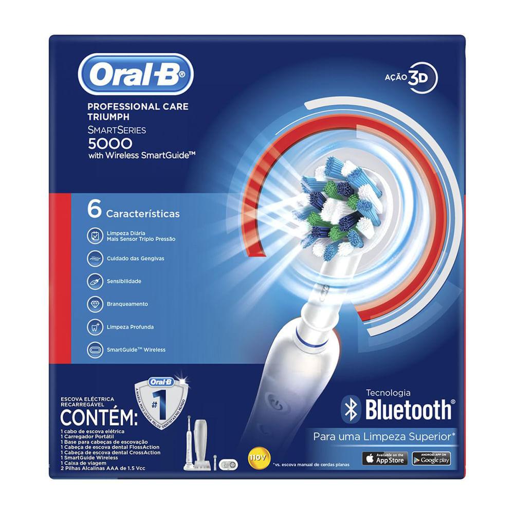 c85569ad1 Drogaria Araujo · Higiene Pessoal · Escova de Dente · Escova Dental  Elétrica Oral B Professional Care 5000 Triumph com 1 Unidade