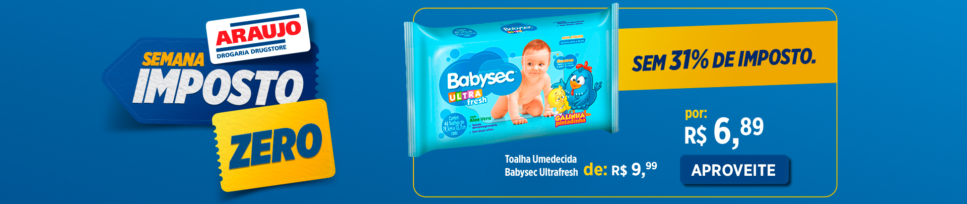Toalha Umedecida Babysec