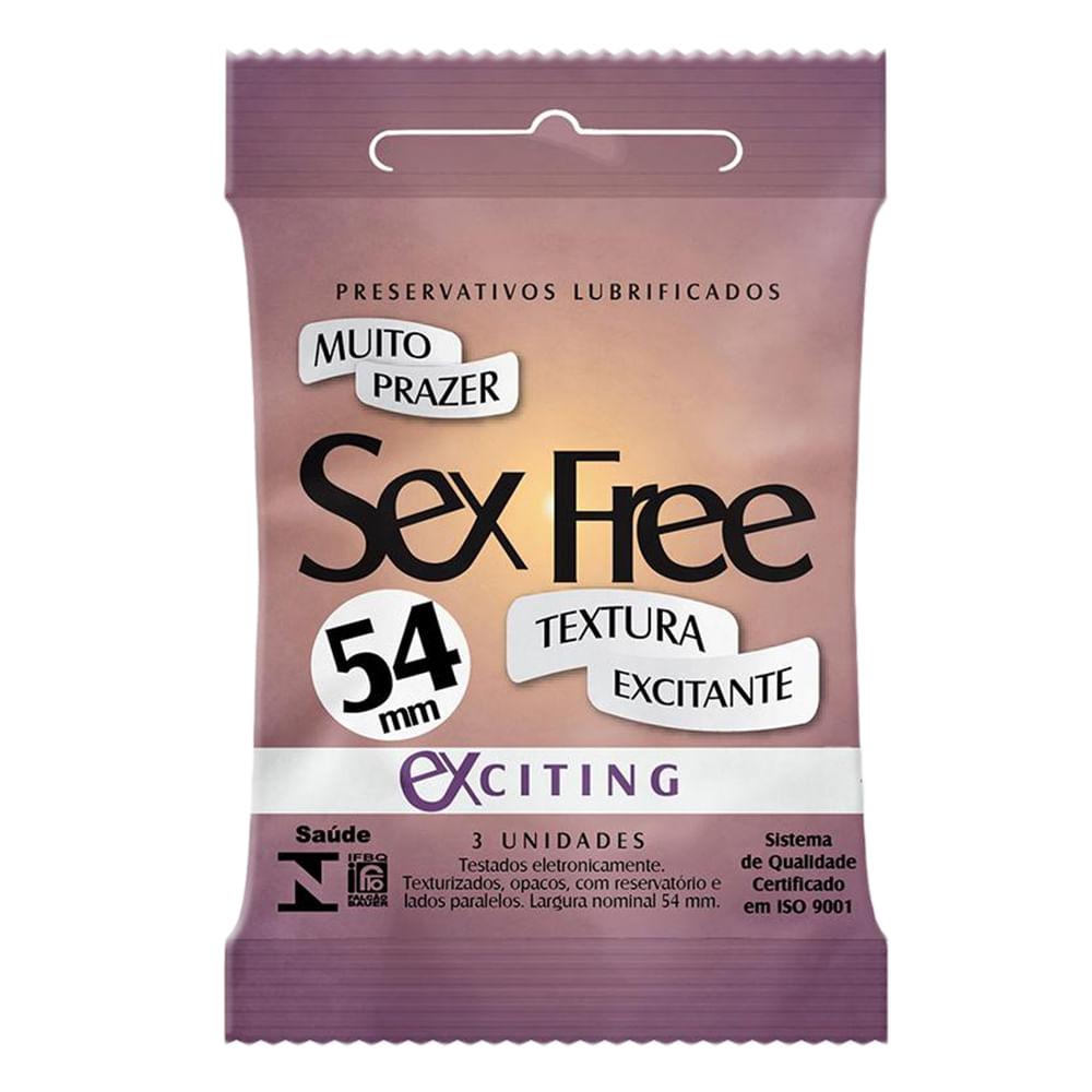 Preservativo Sex Free Exciting com 3 Unidades