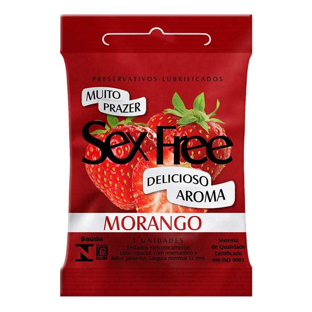 Preservativo Sex Free Morango com 3 Unidades