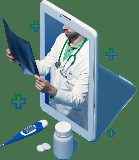 Imagem Medico verificando exames